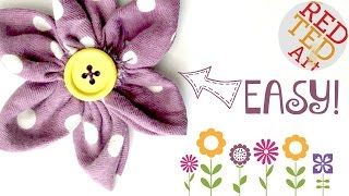 1# BEST Fabric Flower!!!!! (Basic Sewing) - Great For Weddings, Brooches Or Accessories