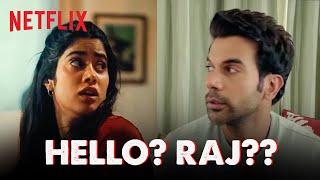 Janhvi Kapoor Panic Calls Rajkummar Rao 😰| Netflix India