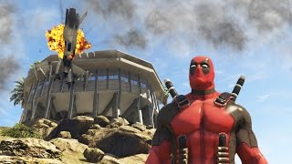 DEADPOOL BLOWS UP IRON MAN'S HOUSE! (GTA 5 Funny Moments)