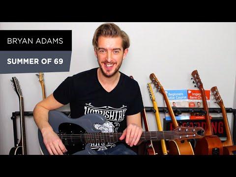 Summer Of 69 Rock Guitar Lesson - Bryan Adams - Electric Guitar
