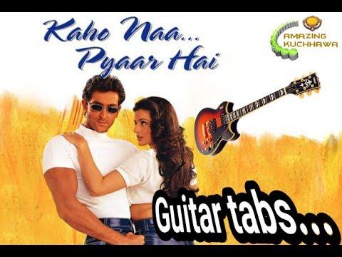 Kaho Na Pyar Hai Guitar Tab for beginners.learn basic guitar tabs easily