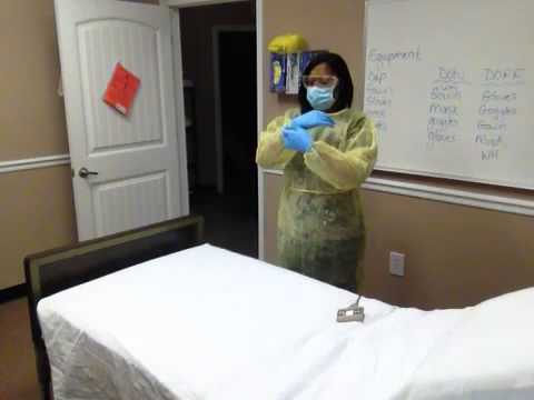 CNA Skill # 8 Donning And Doffing  PPE (gloves, Gown, Goggles, Mask) Mp3