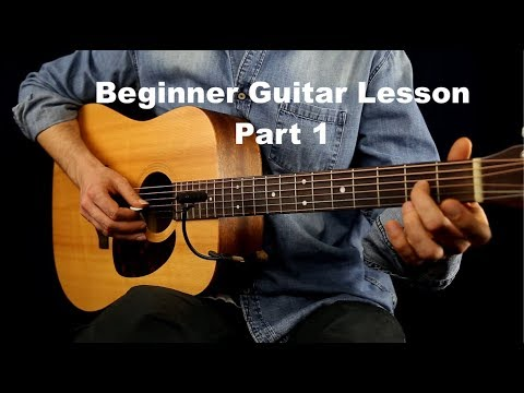 Beginner Guitar Lesson Part 1 (First Guitar Lesson for beginners - How to start to learn guitar)