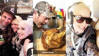 Gwen Stefani and Blake Shelton Celebrate Thanksgiving With Families | Snapchat | November 24 2016