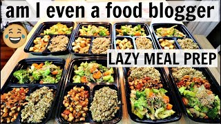 "Lazy ""No Time to Meal Prep"" Vegan Meal Prep in One Hour (REALISTIC)"