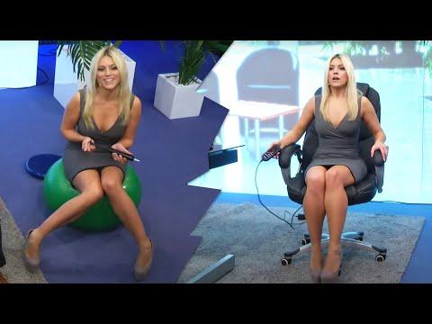 Vollnetz-Bürodrehstuhl mit Kopfstütze und Armlehnen! Mit Katie Steiner bei PEARL TV