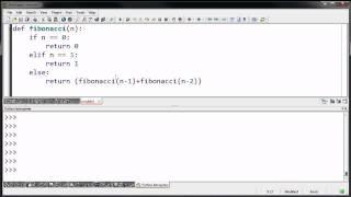 Recursive Fibonacci Example