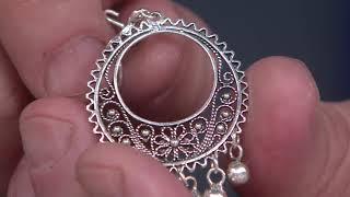 Artisan Crafted Sterling Silver Filigree Chandelier Earrings On QVC