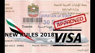 Good news UAE residence || new visa rules 2018 | overstay tourist visa Extend UAE Visit Visa