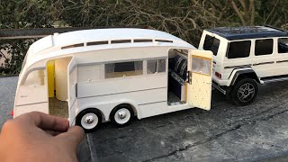 Mini Unboxing Caravan Trailer 118 With Mercedes G63 118 | Interior | Where To Buy Diecasts
