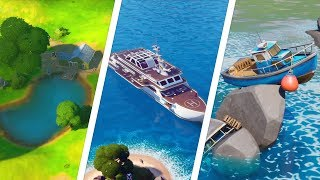 Visit Shipwreck Cove, Yacht, and Flopper Pond Locations - Fortnite Challenge