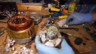 Все просто.Конденсаторний мотор АВЕ-071-4С 180Вт. Підключення та ревізія. Схема підключення.