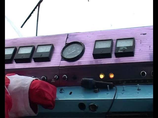 На линии – новогодний трамвай