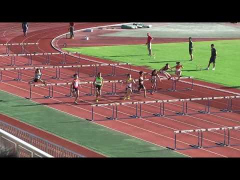 H29 栃木県中学校春季陸上競技大会 女子100mH 決勝