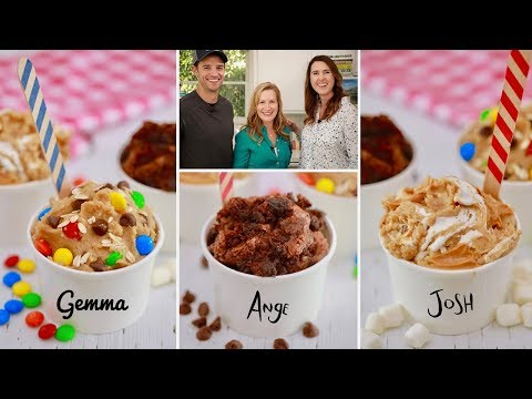 Crazy Edible Cookie Dough Feat. Baking With Josh & Ange!