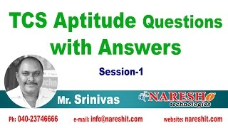 TCS Aptitude Questions with Answers Session - 1 | CRT Training