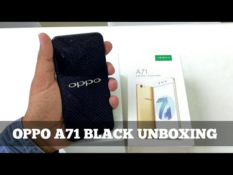 Oppo A71 Black Unboxing & First Look