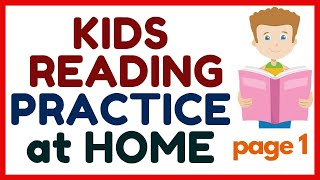 KIDS READING PRACTICE at HOME / Name Words and Describing Words /Page 1/ with LANGUAGES TRANSLATION