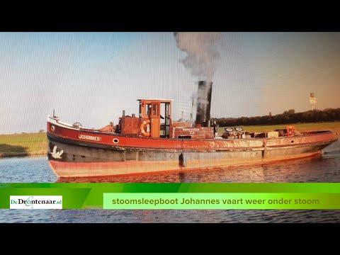 VIDEO | Stoomsleepboot Johannes vaart weer onder stoom: zaterdag Sinterklaasintocht Nijkerk