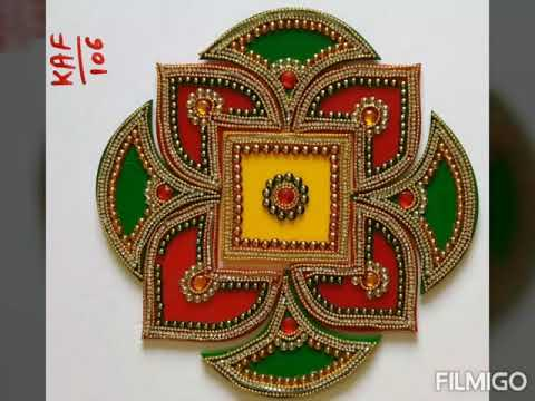 alpana acryclic rangoli design for festivals by s k craft