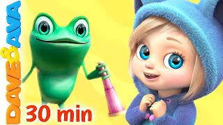🌈 Five Little Speckled Frogs and More Nursery Rhymes and Kids Songs | Dave and Ava 🌈
