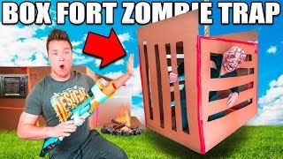 BOX FORT ZOMBIE TRAP!! 📦😱24 HOUR BOX FORT ZOMBIE BASE - Video Youtube