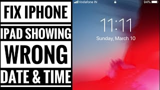 Fix iPhone or iPad showing wrong Date and Time: iOS 14, iOS 13