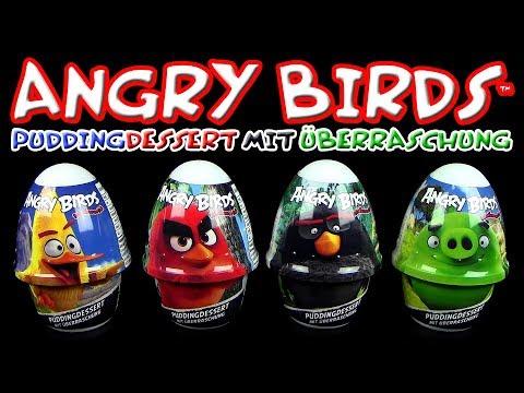 Dairy 4 fun ® Angry Birds ™ Puddingdessert mit Figuren Überraschung
