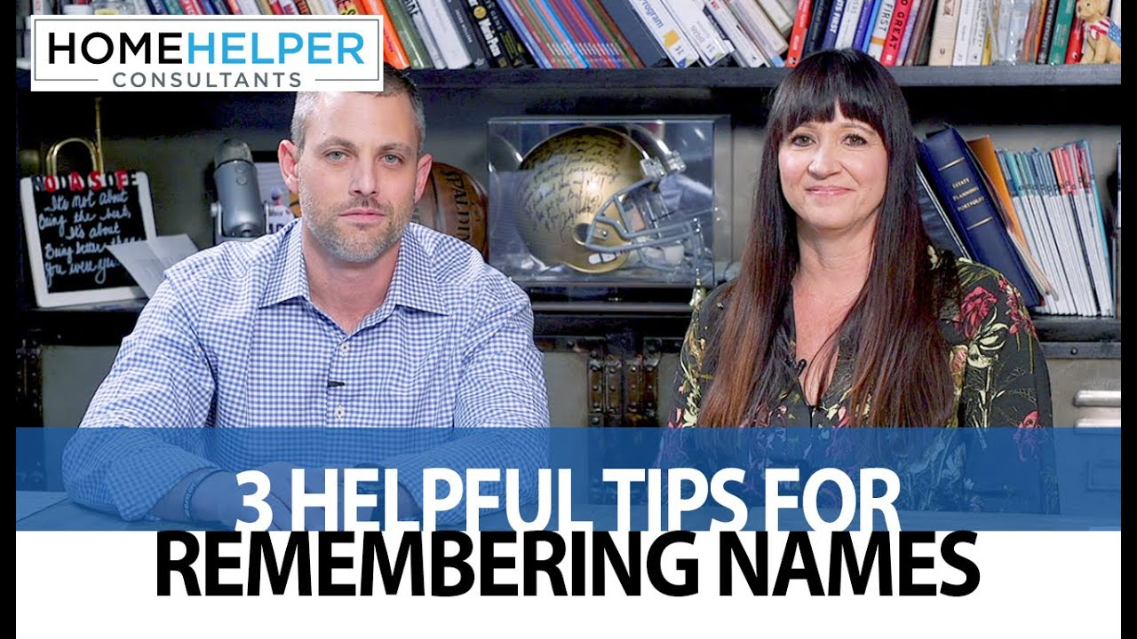 Tricks to Sharpen Your Memory for Names