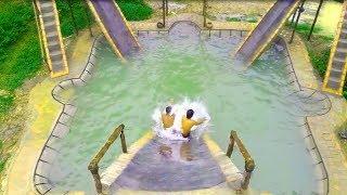 Build Big Swimming Pool & Water Slide for Swimming Pool (full video)