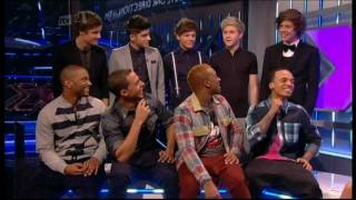 Керолайн Флэк, One Direction & JLS Xtra Factor Interview *Funny*