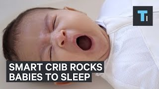 Crib that rocks baby by itself
