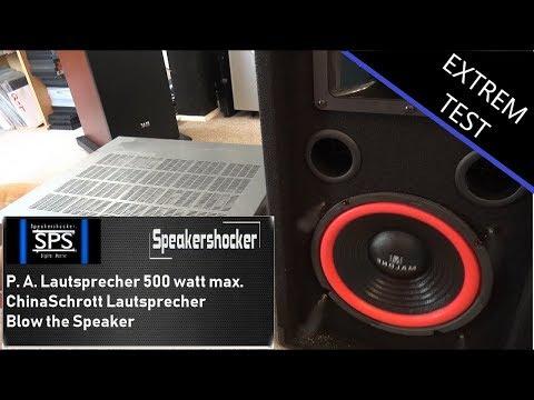 PA Lautsprecher 500 Watt max. test. Warum das einfach Schrott ist. Blow Pa Malone Speaker