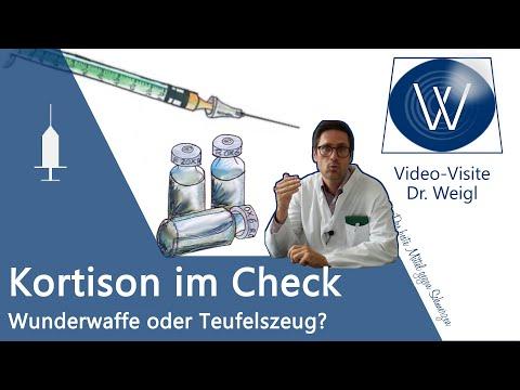 Cortison Tablette & Spritze | Kortison gegen Schmerzen Pickel Neurodermitis Rheuma | Nebenwirkungen
