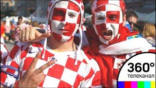 Хорватские болельщики провели акцию в цетре Москвы