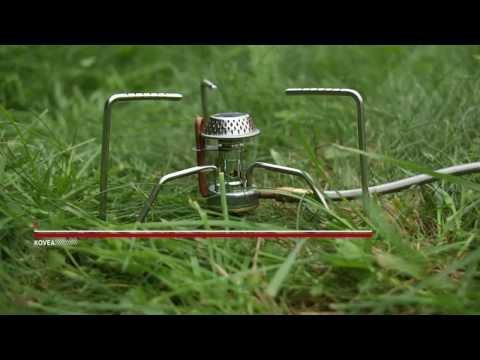 Смотреть видео Газовая горелка Kovea Spider
