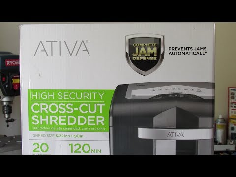 Ativa HD Pro 2000 Crosscut Shredder – Unboxing, Review and Demonstration