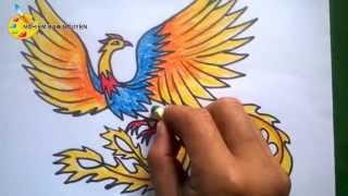 Vẽ con chim Phượng Hoàng/How to Draw a Phoenix