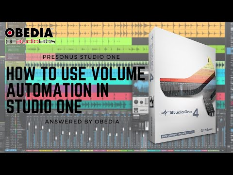 Get started with Studio One: Volume Automation in #PreSonus #StudioOne