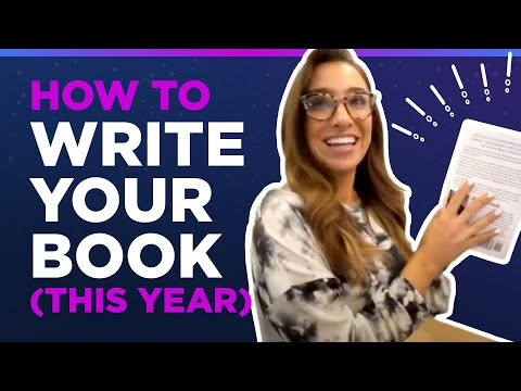 How To Write Your Book (This Year)