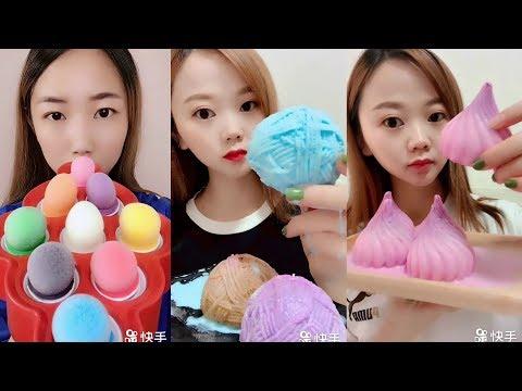 Sütlü Buz Yemek Videoları - #190 ASMR (Frozen Milk Eating)