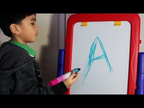ABC phonics writing with color markers