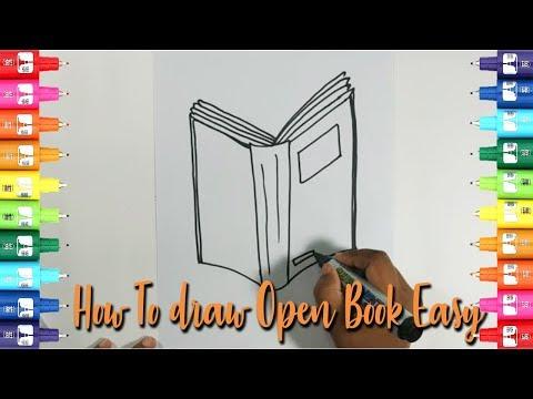 Khuli kitaab ki draw kaise karte hai   How to draw open book