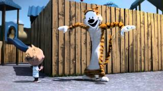 A Funny Trick - Calvin & Hobbes 3d Animation