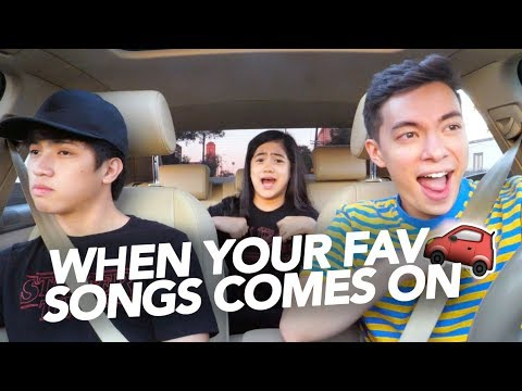 When Your Fav Songs Comes On | Ranz and Niana ft Motoki