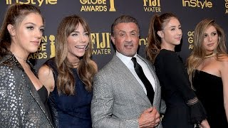 EXCLUSIVE: Sylvester Stallone Reacts to Daughters Being Named Miss Golden Globes 2017: 'It's Surr…