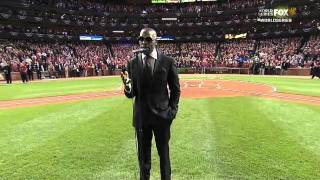 RB singer Joe singing national anthem