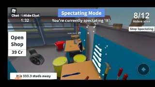 Playing:HIDE AND SEEK!! Being it!*Roblox*