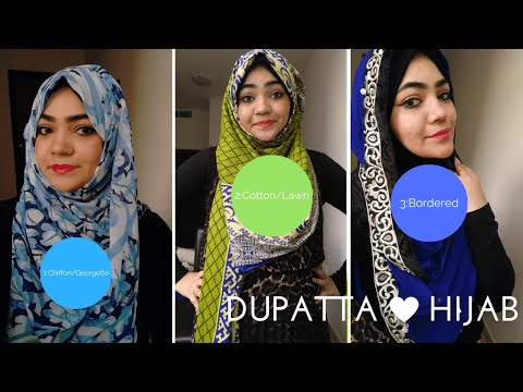 How to tie Hijab On Indian Dress with Dupatta-Part 2