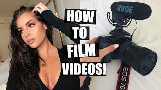 MY FILMING SECRETS REVEALED! HOW I FILM VIDEOS +MY YOUTUBE JOURNEY!
